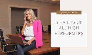 5 Habits of ALL High Performers